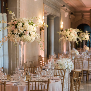 Classic historical manor wedding reception