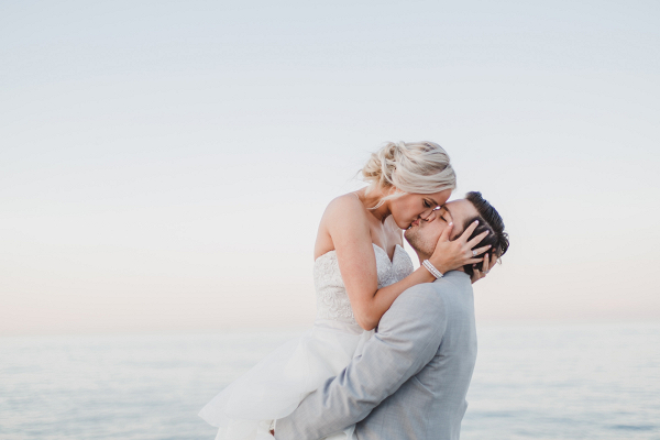 Chicago lakeside wedding portrait