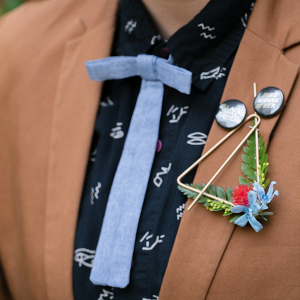 Unique wedding boutonniere