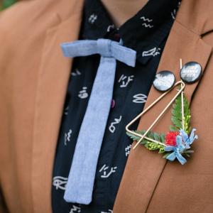 Unique wedding boutonniere