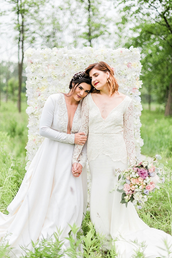 Whimsical same sex garden wedding inspiration