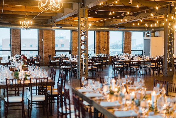 Industrial Chicago wedding reception