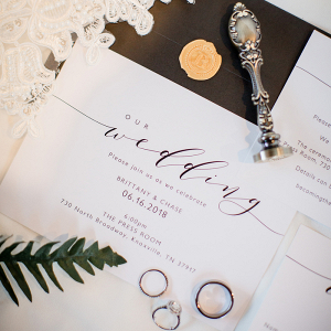 Let's Bee Together - black & white the press room wedding – brittany & chase