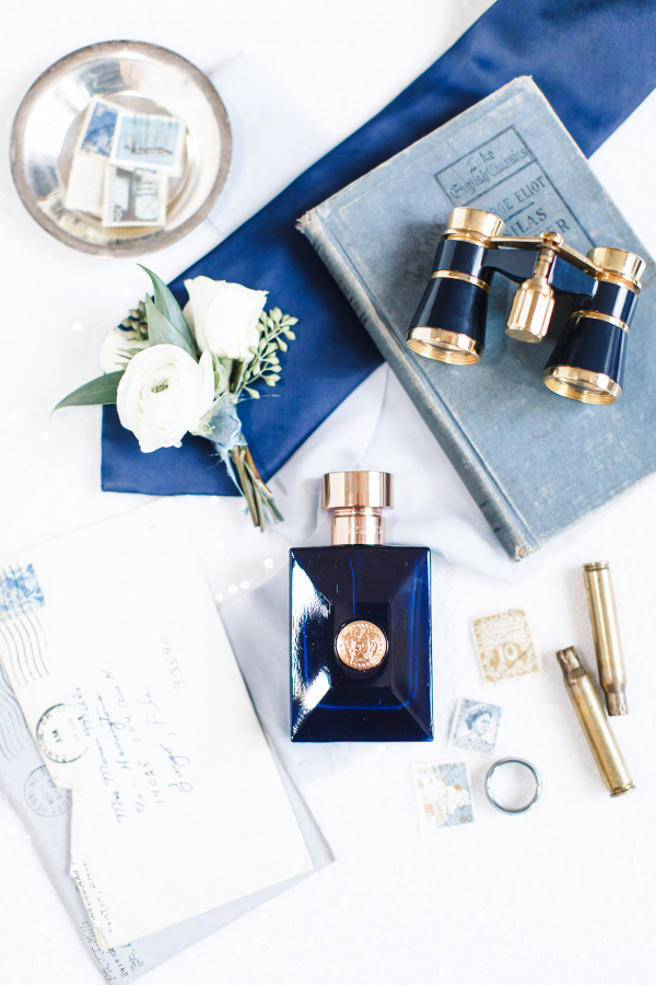 Navy blue wedding details