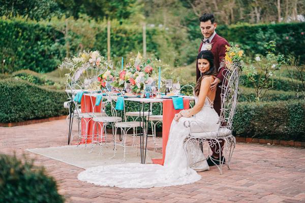 Let's Bee Together - secret garden wedding shoot