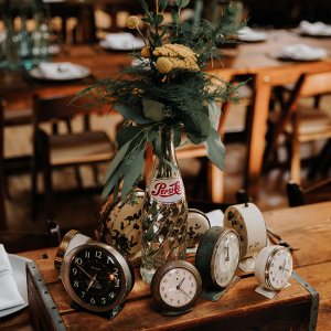 Vintage inspired centerpieces