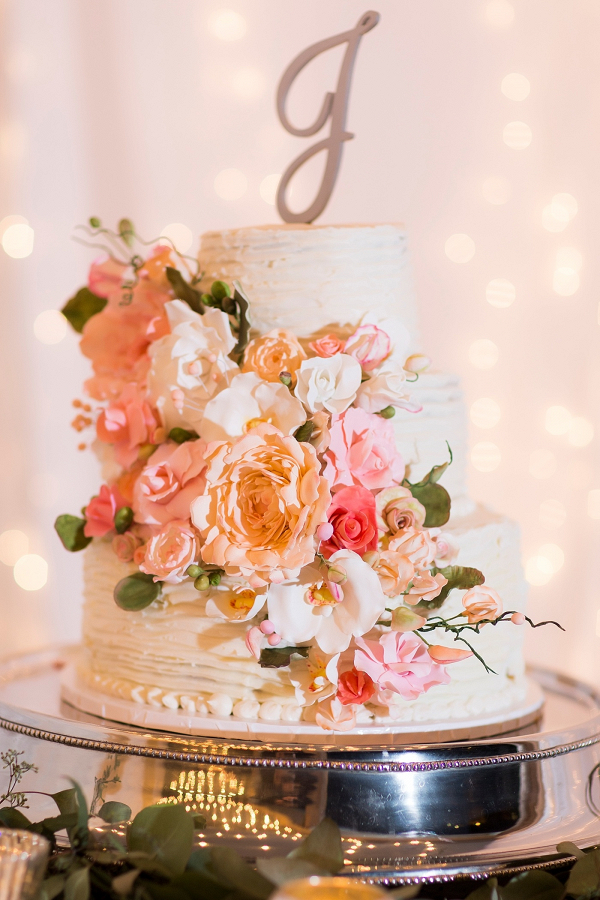 Ruffle wedding cake
