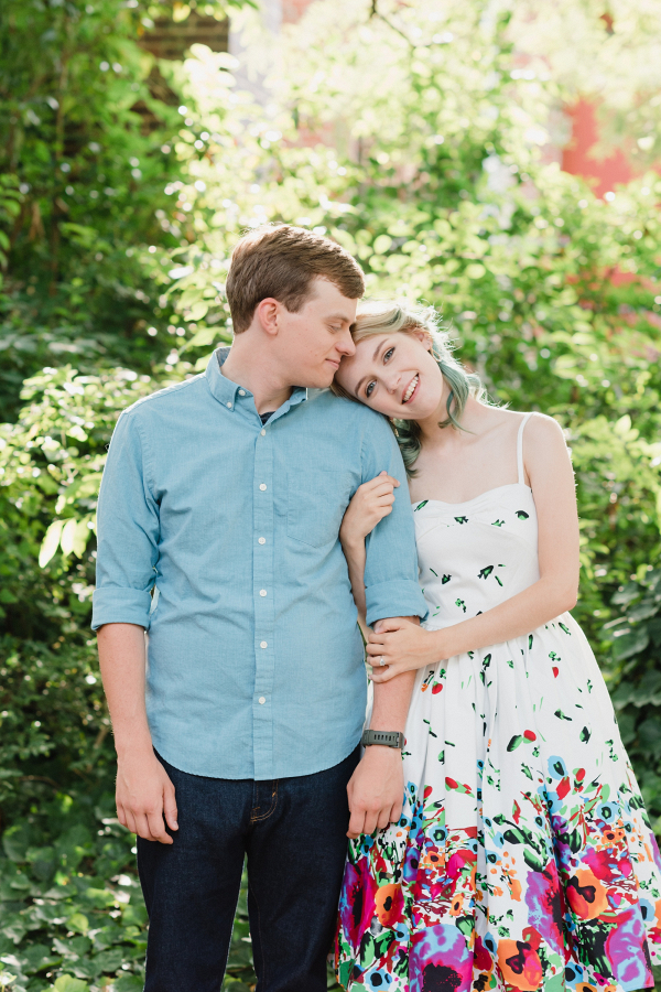 Summery engagement session