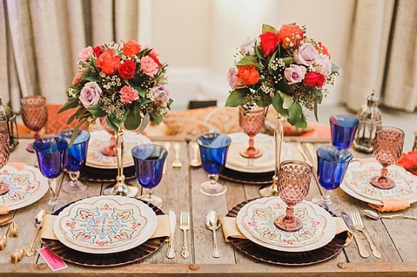 Indian wedding tablescape