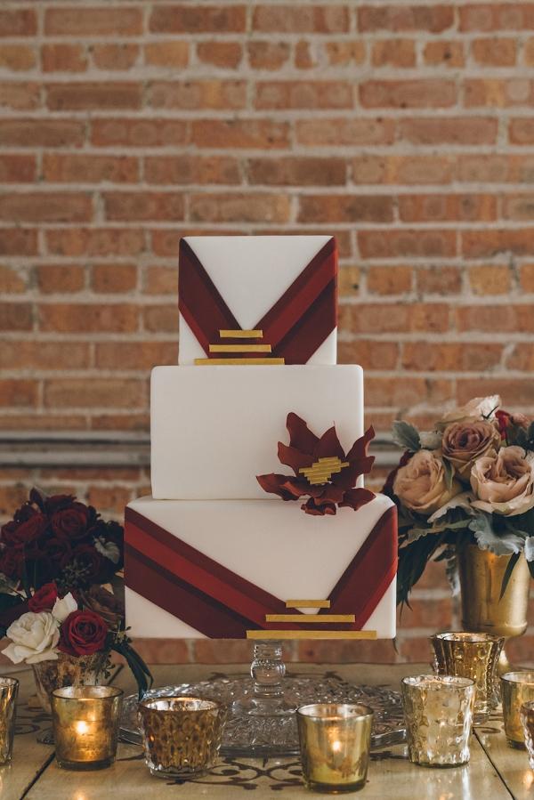 red-geometric-wedding-cake