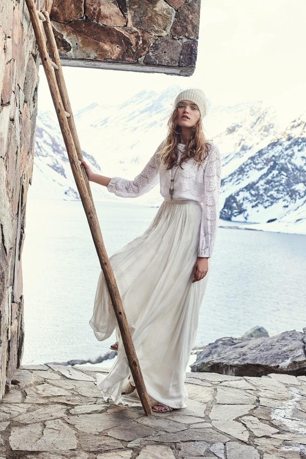 Boho winter bride