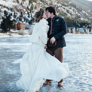 Frozen Lake Winter Wedding