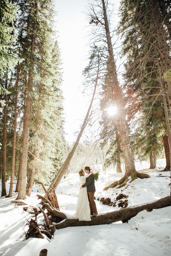 Forest Winter Wedding Styled Shoot