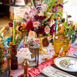 Bright and Bohemian Tablescape