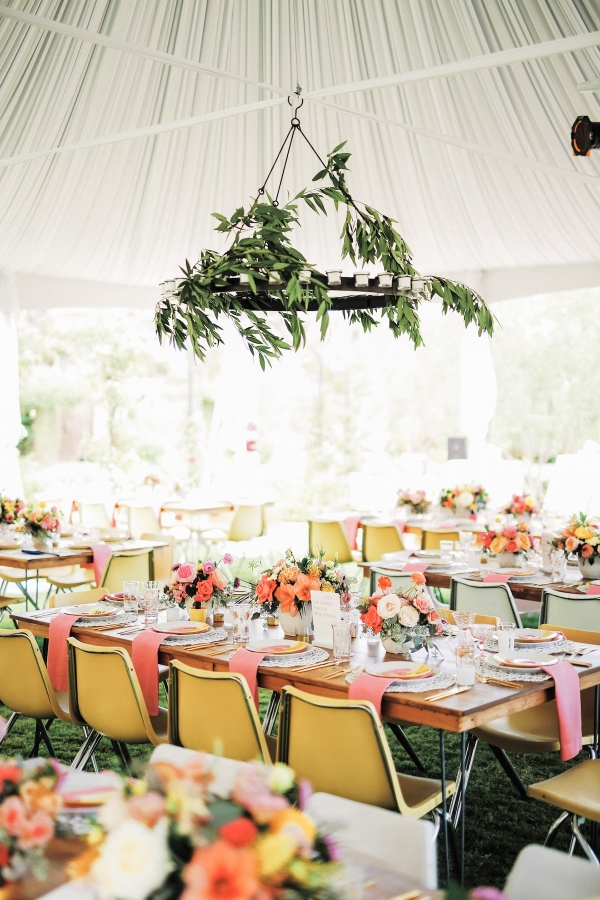 Modern Tented Wedding Reception