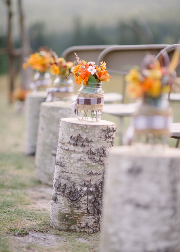 Rustic DIY ceremony decor
