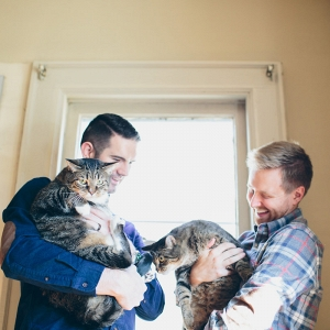 Cats in Engagement Session
