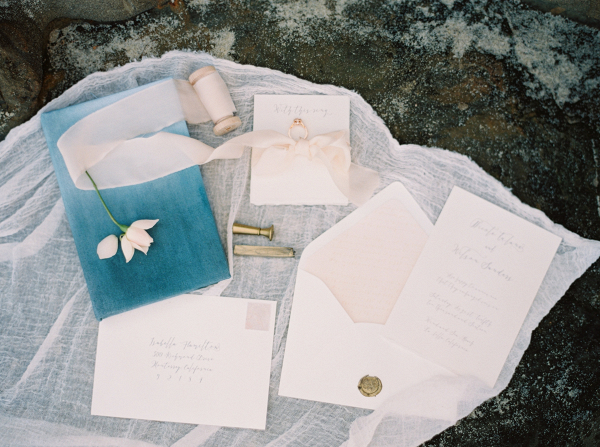 Blush invitation suite