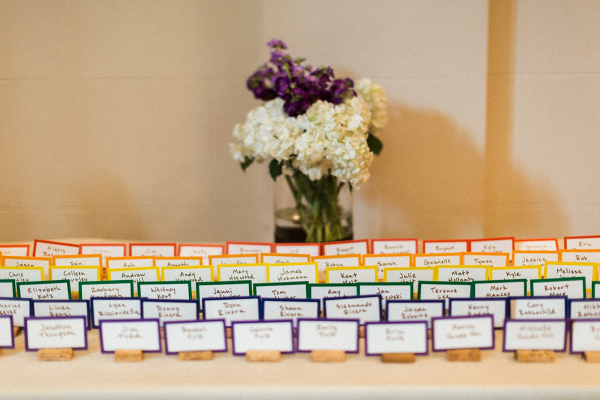 Colorful place cards