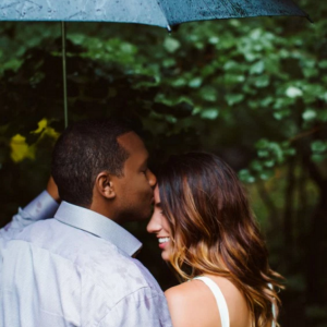 Engagement Session with an Umbrella