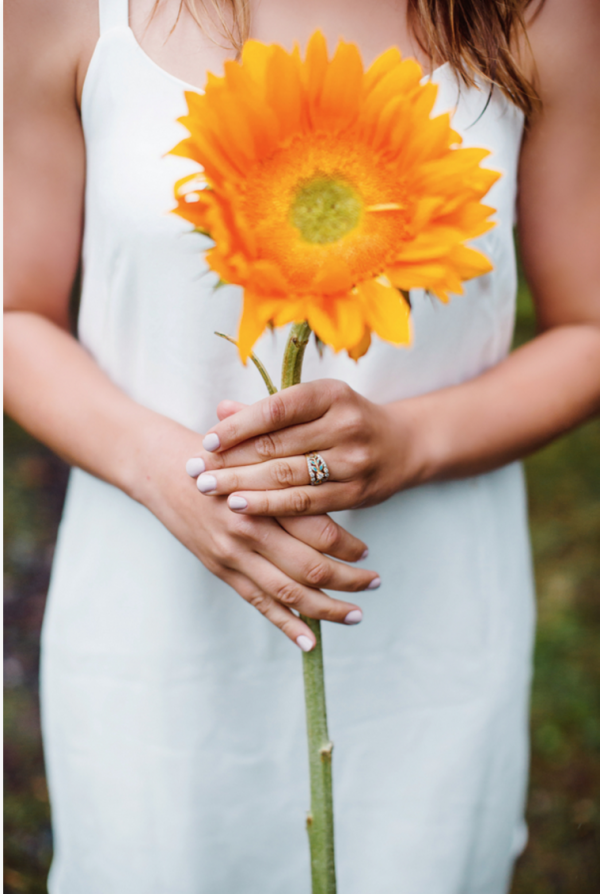 Oversized Flower for Engagement Shoot