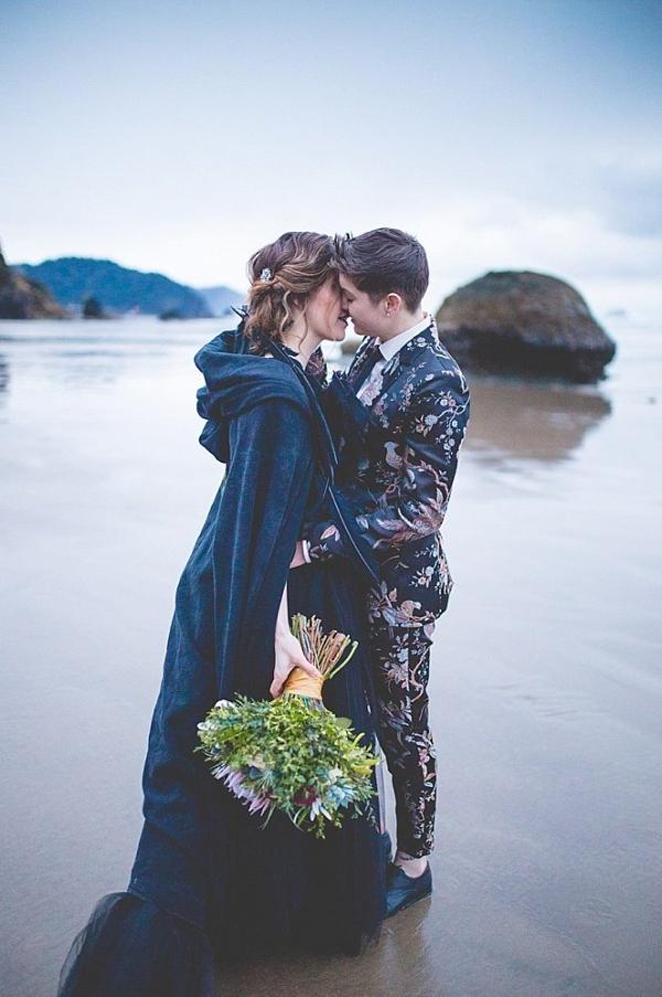 Floral bridal suit