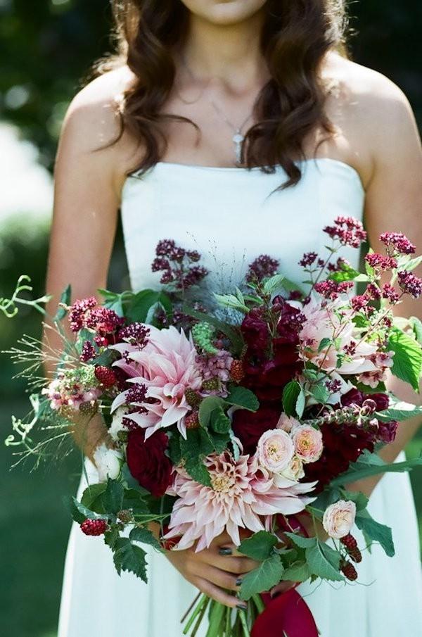 Moody Jewel-Toned Bridal Bouquet