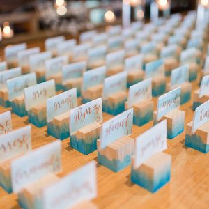 DIY Wooden Escort Cards