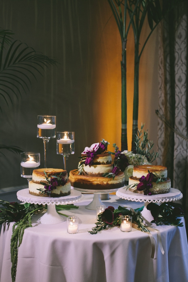 Deconstructed wedding cheesecake