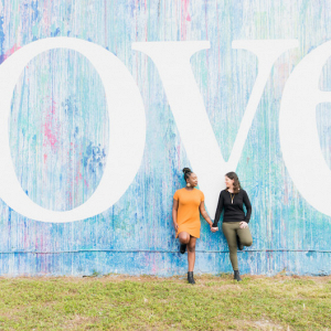 Colorful Miami engagement session