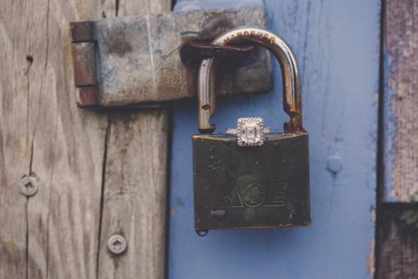Lock Engagement Ring Photo