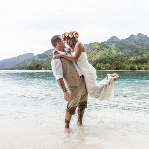Polynesian destination wedding