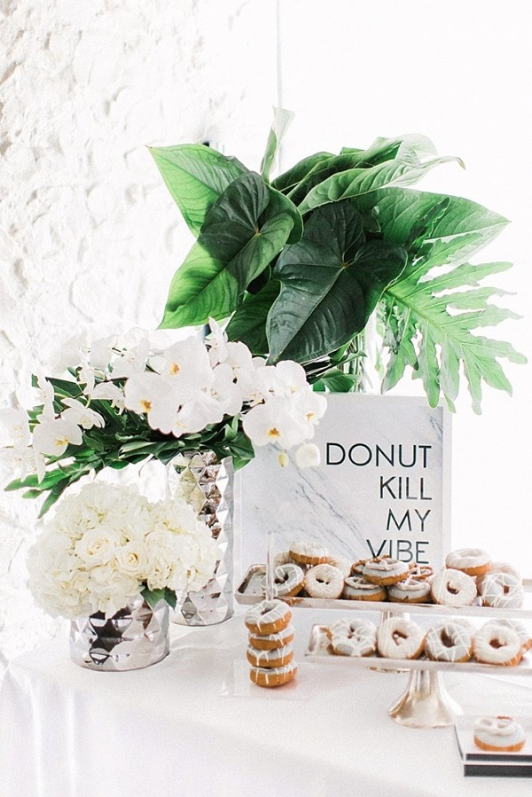 Donut wedding sign