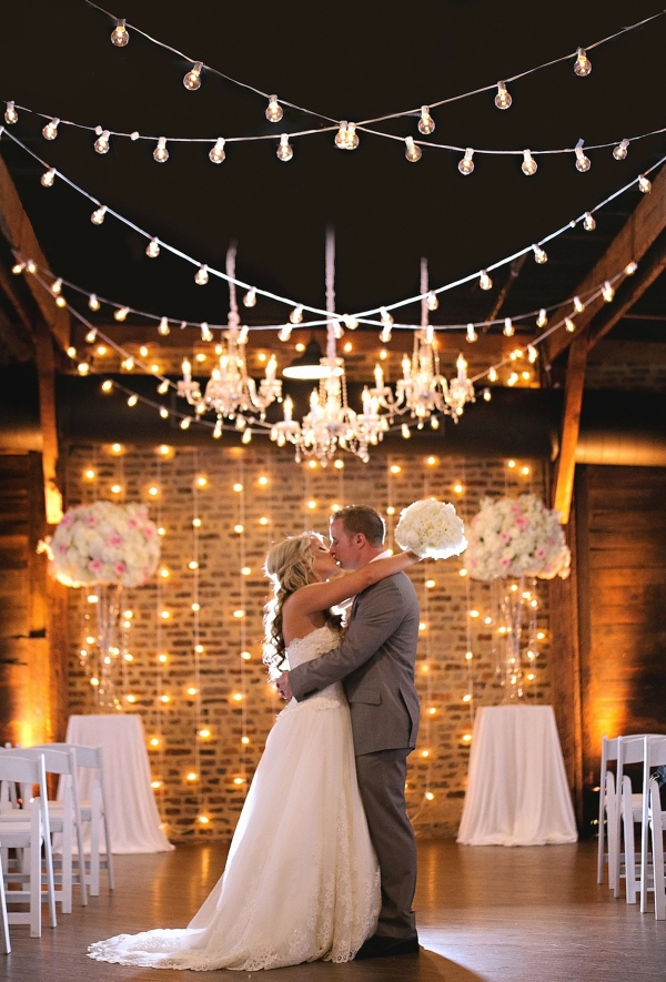 Industrial Glam Ceremony Setting