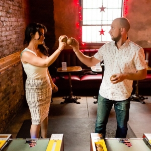 Skee Ball Engagement Shoot in Brooklyn