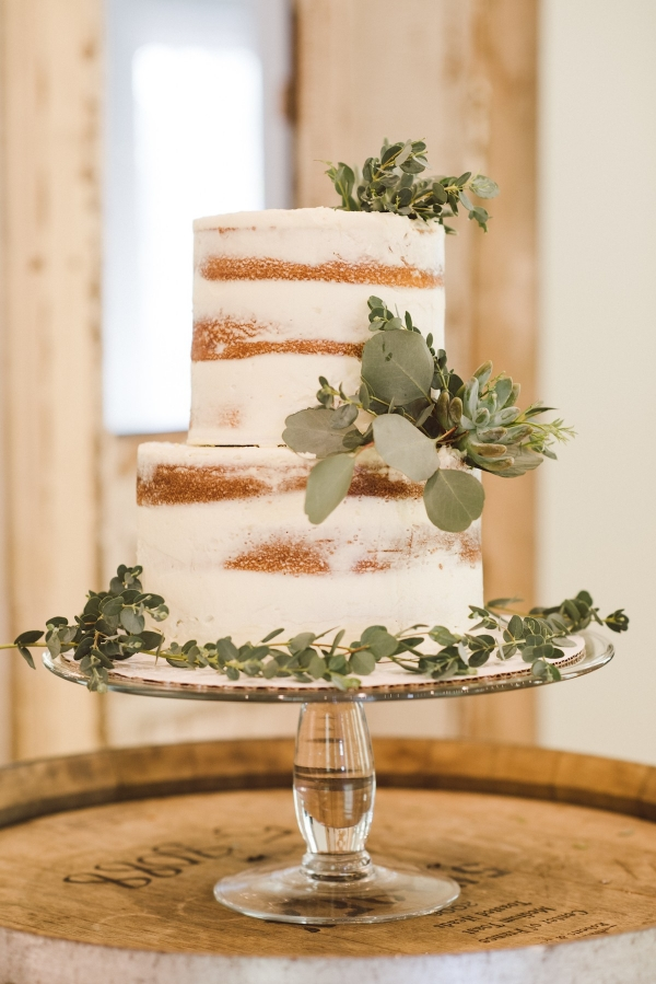 Naked Cake with Eucalyptus