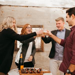 Celebrating proposal
