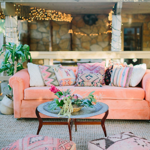 Boho seating area