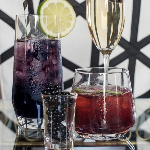 Purple and Red Cocktails