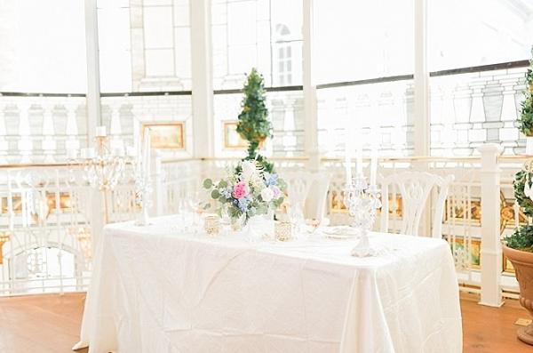 Elegant sweetheart table