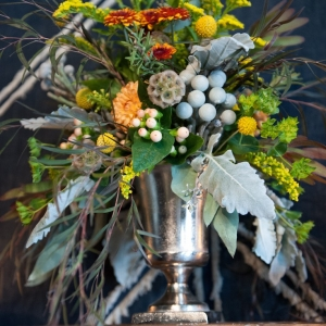 Floral Design in Trophy Vase