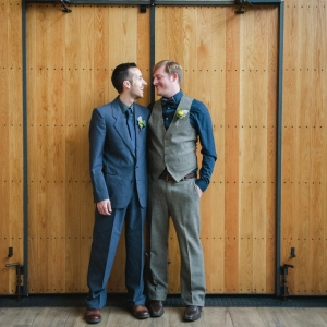 Gray and Blue Grooms Suits