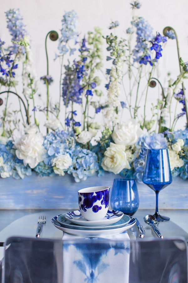 Bright modern tablescape
