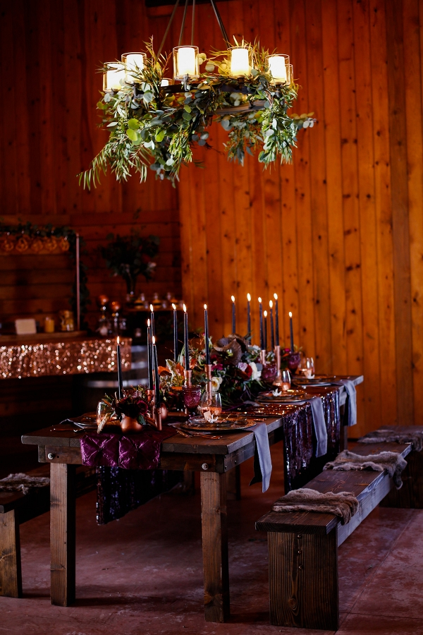 Moody and Creative Wedding Tablescape