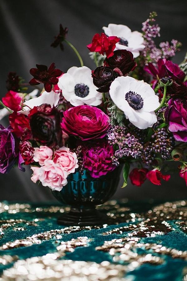 Deep pink floral centerpiece