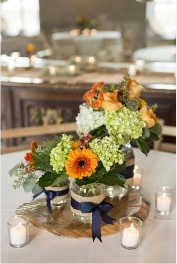 Burlap Floral Centerpieces