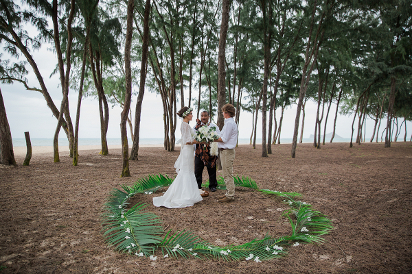 Hawaiian elopement