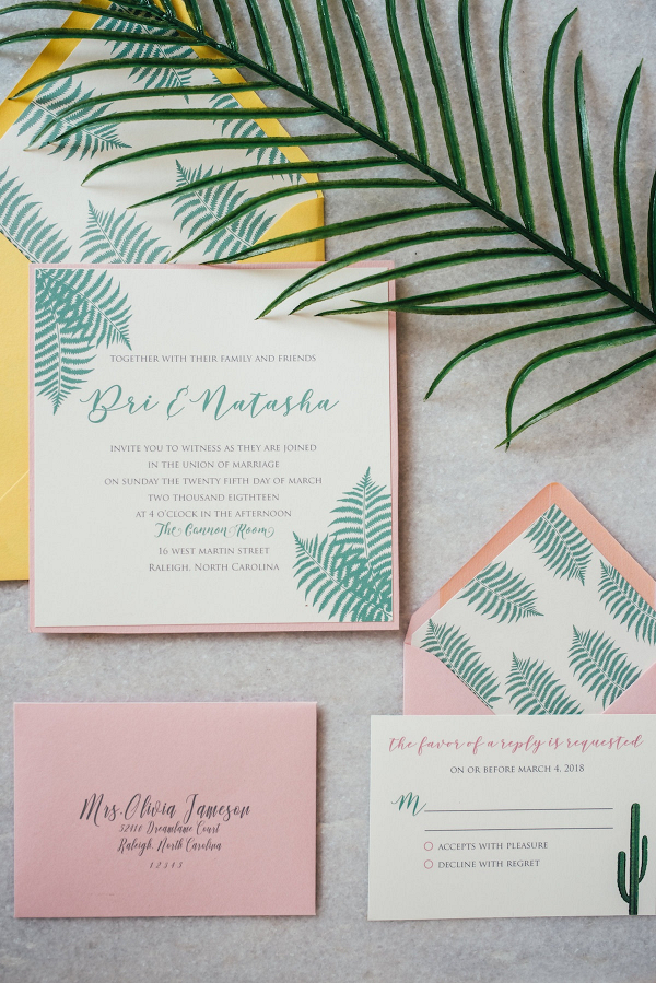 Tropical invitations