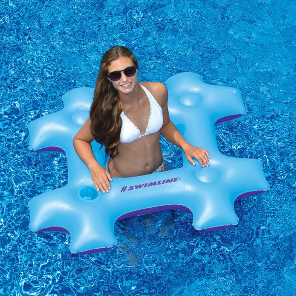 Hashtag Pool Float