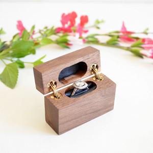 Wooden ring box